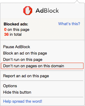 How to disabled AdBlock?